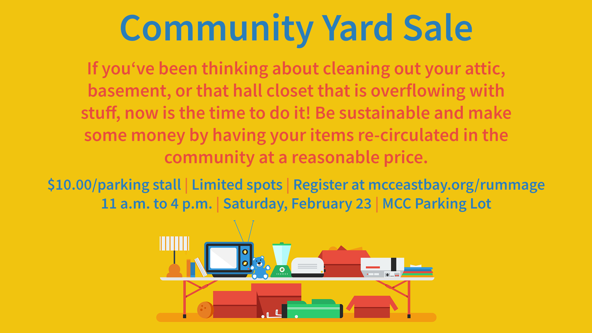 Community Yard Sale – MCC East Bay