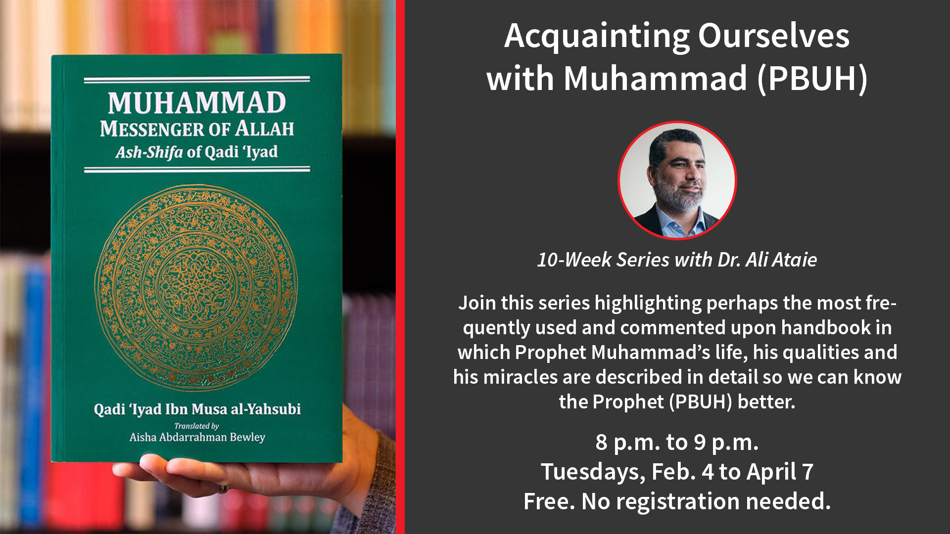 Cancelled* Acquainting Ourselves with Muhammad (PBUH) | Series ...